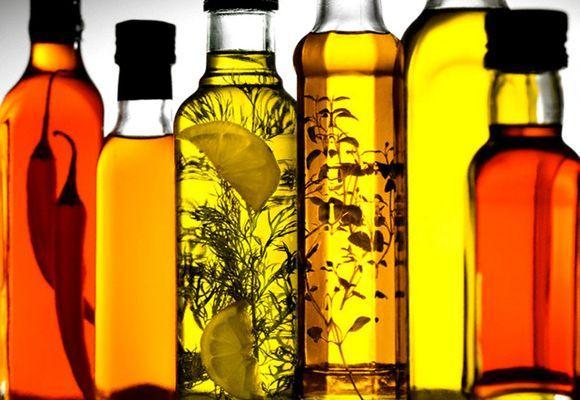 растительные масла в бутылках
