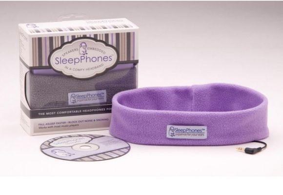 розовые наушники для сна