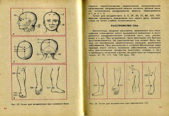 массаж при бессонице