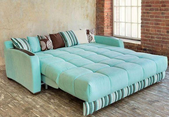 бирюзовый ортопедический диван