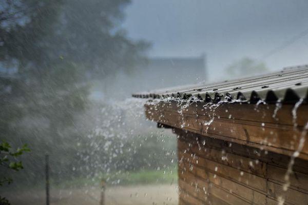 дождь по крыше